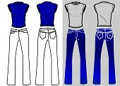 Fashion Plates Shirt & Blue Jeans