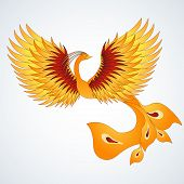 Phoenix With Straighten Wings.