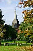 English Churchyard in Portrait aspect
