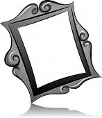 Black and White Illustration of a Frame with a Vintage Design