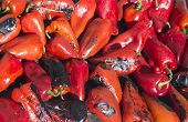 image of piquillo pepper  - Roasted red peppers background - JPG