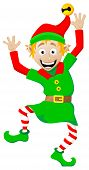 Christmas Elf On White Background