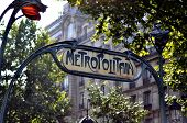 Metropolitan Sign In Paris