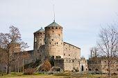 Medieval Olavinlinna Castle In Savonlinna, Finland