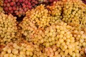 Cluster of yellow grapes