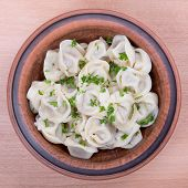 Traditional Russian Dish - Pelmeni