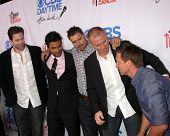LOS ANGELES - OCT 8:  Michael Muhney, Ignacio Serricchio, Joshua Morrow, Sean Carrigan, Steve Burton