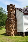 pic of cade  - The chimney attached to the historic Gregg Cable House at Cades Cove built in 1879.