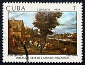 Postage Stamp Cuba 1979 Genre Scene, By David Teniers
