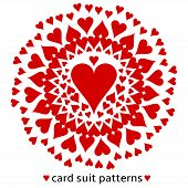 Heart card suit pattern