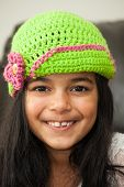 Girl In Crocheted Hat