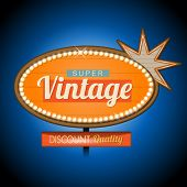 Retro vintage motel banner sign