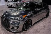ANAHEIM, CA - OCTOBER 3: A Hyundai Veloster on display at the Orange County International Auto Show