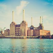 Vintage Look Battersea Powerstation London