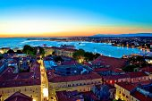 Colorful Nightscapes Of City Zadar