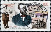 Germany- Circa 1997: Stamp Printed By Germany, Shows Heinrich Von Stephan, Circa 1997