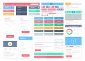 Flat User Interface Elemente Set