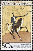A Stamp printed in Czechoslovakia shows draw
