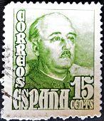Spain - Circa 1947: Stamp Printed By Spain, Shows Francisco Franco, Circa 1947