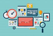 Website Seo und Analytics-Symbole