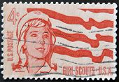 Usa - Circa 1962: A Stamp Printed In The Usa Shows Girl Scouts, Circa 1962