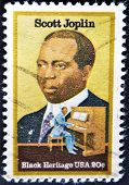 Stamp Printed In Usa Shows Scott Joplin American Composer And Pianist, Black Heritage