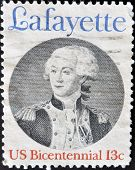 United States - Circa 1977: Stamp Printed By United States, Shows Lafayette, Circa 1977