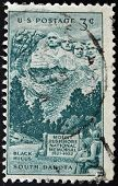 United States Of America - Circa 1952: Stamp Printed In Usa, Shows Rushmore Memorial, Circa 1952.