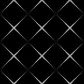 Seamless Monochrome Geometric Background