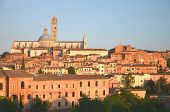 Gorgeous panorama of Siena at sunset, Tuscany, Italy