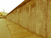 Retro Looking Berlin Wall