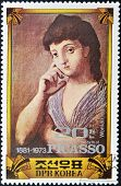 Stamp Commemorating The 100 Anniversary Of The birth of Picasso shows the