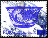 Peru - Circa 1978: A Stamp Printed In Peru Shows Bowl Of The Nazca Culture, Circa 1978