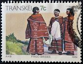 Republic Of South Africa - Circa 1984: A Stamp Printed In Transkei Shows Fingo Brides, Circa 1984