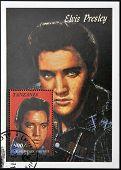 Tanzania - Circa 1997: A Stamp Printed In Tanzania Shows Elvis Presley, Circa 1997