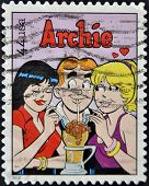United States Of America - Circa 2010: A Stamp Printed In Usa Shows Archie, Cartoon Characters