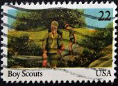 United States Of America - Circa 2000: Stamp Printed In Usa Show Boy Scouts, Circa 2000