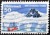 Usa - Circa 1961: A Stamp Printed In The Usa Shows Antarctic Treaty, Circa 1961