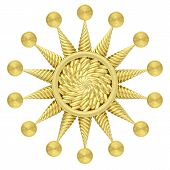 Golden Star Symbol Isolated On White Background