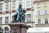 Count Aleksander Fredro Monument In Wroclaw