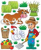 stock photo of fowl  - Farmer theme set 1  - JPG