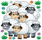 Sheep theme image 3 - eps10 vector illustration.