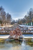 Cascade Fountain At La Granja Palace, Spain