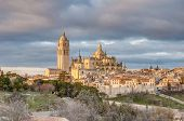 Segovia Cathedral At Castile And Leon, Spain