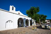 Ibiza Sant Carles de Peralta white church in Balearic Islands Spain