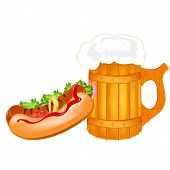 Best traditional fresh cold Beer and hotdog