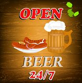 Best traditional fresh cold Beer and hot sausage