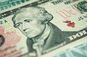 Banknote In Ten American Dollars