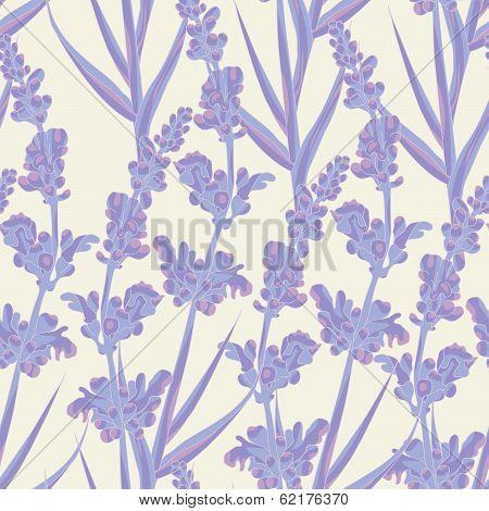 Lavender Seamless Pattern. poster