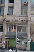 KIEV, UKRAINE -MAR 24, 2014 Downtown of Kiev Branch of Private-Bank after crush and robbery. Riot in